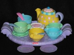 It's always fun to share a cuppa with the wee ones too!  Trust me...they will remember those times! Fisher Price Little Teapot Musical Teaset