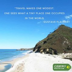 """""""Travel makes one modest, one sees what a tiny place one occupies in the world"""" - Gustave Flaubert #TravelQuote #Wanderlust #Wanderer"""