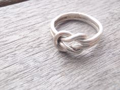 Vintage Sterling Silver Knotted Band Ring by by Rachelmariedesigns, $15.00