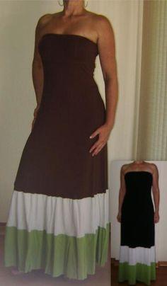 Vestido longo tomara que caia de malha