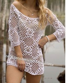 Crochet Shirt, Crochet Lace, Crochet Bikini, Crochet Clothes, Diy Clothes, Sexy Outfits, Cute Outfits, Swimsuit Cover, Aesthetic Clothes
