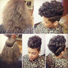 If I ever chop my hair off, I will do it like this! Cut My Hair, Love Hair, Her Hair, Dope Hairstyles, Pretty Hairstyles, Black Hairstyles, Short Hair Cuts, Short Hair Styles, Pixie Cuts