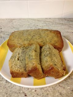 Classic Banana Bread-made 2 loaves this weekend one regular & one substituting for gluten free flour...both were sooo good and very moist!  Yummers!