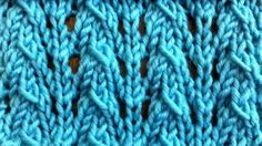 The Little Fountain Lace Stitch :: Knitting :: New Stitch a Day