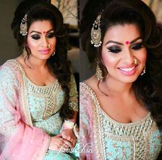 Our client Deepi looks absolutely stunning in her #Wellgroomedinc designed outfit for her ladies sangeet! We are in love with the aqua blue and baby pink pairing! Perfection! The possibilities of creating your dream outfit are endless at Wellgroomed! All of our pieces can be customized to meet your personal style (fit, colour, fabric etc) Email us at sales@wellgroomed.ca to set up a consultation in person or over the telephone/skype with one of our fashion consultants!