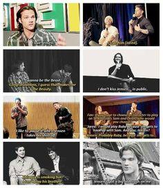 Jared and Jensen the ultimate bromance.