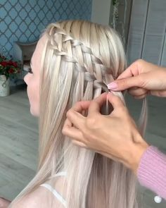 Braided Hairstyles Updo, Braids For Short Hair, Easy Hairstyles For Long Hair, Diy Hairstyles, Pretty Hairstyles, Lose Curls Long Hair, Easy Hairstyle Video, Long Hair Video, Hair Up Styles