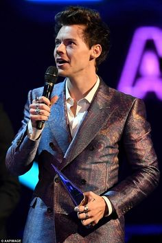 Doing his thing:Meanwhile when Harry was in town last week, he attended the ARIA awards in Sydney