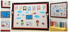 Superhero Classroom Bulletin Board Ideas:  Creating a Fabric Covered Board - Speech Room Style