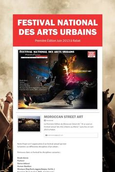 Festival national des arts urbains  Looking for sponsors  matcbooking@gmail.com