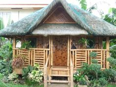 Shacking up in a Nipa-hut (bahay-kubo in Filipino) out in the tropics. Proud pinoy here! Filipino Architecture, Bamboo Architecture, Bamboo House Design, Simple House Design, Bahay Kubo Design Philippines, Small Cottage Designs, Hut House, Tiny House, Philippine Houses