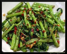 Vegan-Love-Food: Chili Kangkong (Water Convolvulus)