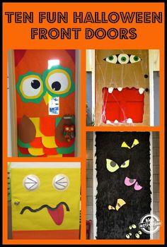 15 fun halloween front doors - Halloween Front Doors
