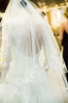 Behind the scenes and details of Monique Lhuillier Spring/Summer 2015 Bridal Show. Wedding Veils, Wedding Bride, Wedding Night, Monique Lhuillier Bridal, Dream Wedding Dresses, Wedding Attire, Bridal Style, Wedding Styles, Wedding Photos