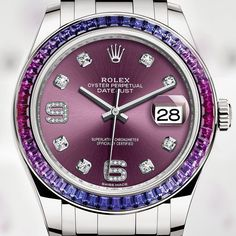 """35.5k Likes, 1,134 Comments - ROLEX (@rolex) on Instagram: """"The Pearlmaster 39 in 18 ct white gold, set with a blue to fuchsia pink gradient of 48 baguette-cut…"""""""