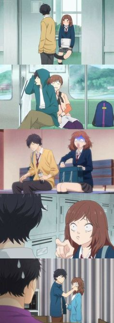 Funny Kou and Futaba moments! •Ao Haru Ride•
