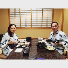 Good thing about wearing Yukata for dinner  gives you more space to eat   #ChrisLin_TokyoDec15 #japan #日本  #kusatsu #kusatsuonsenboun #yubatake #kusatsuonsen #onsen #草津温泉 #草津 #gunma #hotsprings #温泉 #nagano #no1hotspring  #gunmaprefecture #ryokan #kaisekicuisine #kaiseki #望雲 #yukata by friedcarrotcake