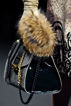 Angelo Marani Fall 2013 - Its all in the details  #Fur