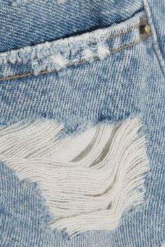 FRAME - Rigid Re-release Le Original Distressed Denim Shorts - Mid denim - 30