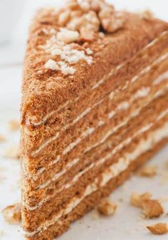 Russian Honey Cake (Medovik)  Medovik, or Russian honey cake is one of the most popular cakes in Russia. It has 6 cookie type layers which are combined ... - Jasmina Brozović - Google+