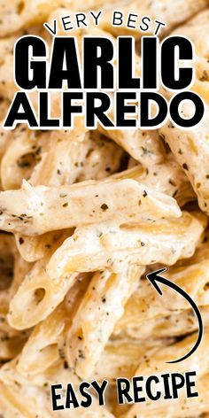 Creamy Garlic Pasta is just as easy as it is creamy! This delicious alfredo can be made in 20 minutes or less, so it's the perfect weeknight dinner when you need something fast but oh so good!