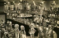 Marshall Fields 4th floor toy department, 1930                                                        fourth floor was always my favorite