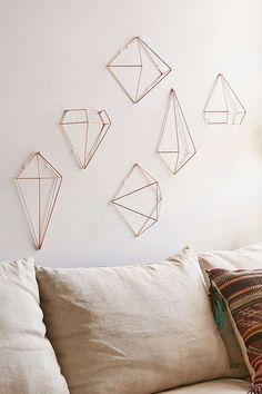 UrbanOutfitters.com: Himmeli style copper decorations set/6 $39: