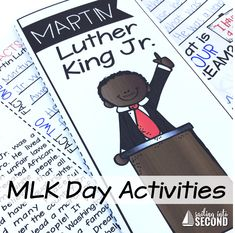 Martin Luther King, Jr. ideas and activities for your classroom!