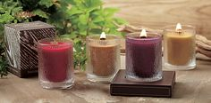 Nature's Light by PartyLite™ Wooden Wick Scented Candles...another cozy candle corner.  www.partylite.biz/susanjamison