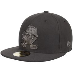 Cleveland Browns New Era NFL Graphite League Basic 59FIFTY Fitted Hat - $26.99