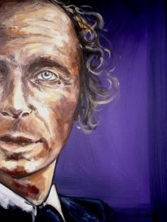 "Saatchi Art Artist Ann Abel Iseux; Painting, ""French Spy*1. DETAIL"" #art. PORTRAITS PAINTINGS>Contemporary portraits."