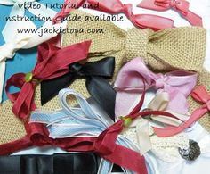 Jackie Topa: Addicted to Stamping – Bow! Bows! Bows! - 10/28/13.  (Video tutorial on making 14 bows on web page).