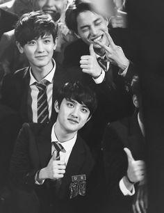 Chanyeol, Kai and D.O