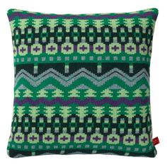 Donna Wilson Green Arctic Cushion ($79) ❤ liked on Polyvore featuring home, home decor, throw pillows, donna wilson, green accent pillows, green throw pillows, green home accessories and green home decor
