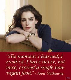 Anne Hathaway ~ Vegan #MyVeganJournal