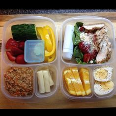 Healthy work lunch packed in #EasyLunchboxes containers.  Purchase EasyLunchbox containers HERE: http://www.easylunchboxes.com/