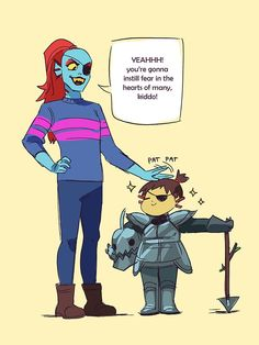 Undyne and Frisk