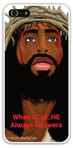 Black Jesus IPHONE 4/4s/5 Customized Cases by infiniteeart on Etsy, $25.00