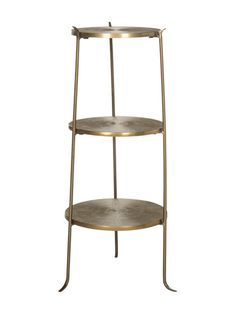 Brass Three Tier Table by Safavieh at Gilt