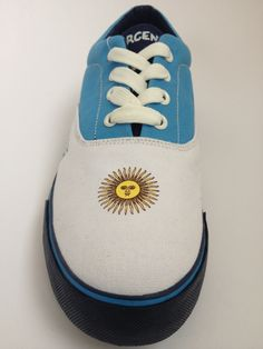 #Argentina Lace-Up Canvas Shoe. #2014WorldCup. #shoes #soccer #futbol #football  #WorldCupBrazil #fun #blue #argentinian #messi #yellow #sun #summer #fifa #like