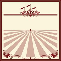 Circus vintage poster template Free Vector