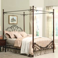 Cherry Ancient Canopy Bed - Full Size  I want it for Jaz!! :-)  Good price.