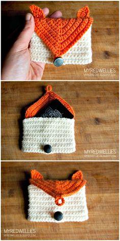 Crochet Fox Gift Card Holder – A Free Pattern - 50 Free Crochet Fox Patterns - Crochet Fox Hat - DIY & Crafts