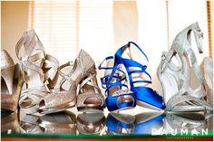 "The Bride's ""Something Blue"" were these AMAZING shoes. Love the bridesmaid's sparkles too.   Hotel Del Coronado Wedding, Photography by Bauman Photographers  View More: http://baumanphotographers.com/blog/destination-wedding-photography/2015/10/balboa-park-wedding-san-diego-ca-wedding/"
