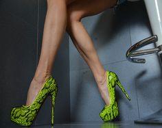 Sexy Luxus Plateau High Heels Damenschuhe Party Pumps Rosa Gelb Neon 35 39 | eBay