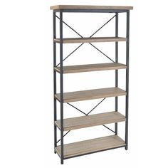 Luxury Industrial Lowry Reclaimed Wood Bookcase. Gorgeous industrial influence. Solid Rustic Reclaimed Wood Shelving with Steel frame. Free UK Delivery!