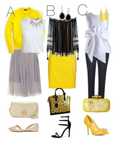 """""""Yellow: The Unexpected Guest. Popping up from the runway to Street Fashion."""" by anjigayle ❤ liked on Polyvore featuring Qupid, Liliana, J.Crew, Canvas by Lands' End, ABS by Allen Schwartz, Helmut Lang, Yanny London, Jaeger, Chloé and Tory Burch"""