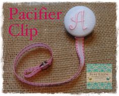 A thru Z White and Pink Monogrammed Paci by busylizzieboutique, $7.95