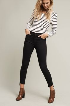 Mother Stunner High-Rise Ankle Step Jeans from Anthropologie