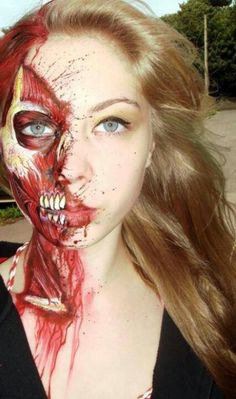 Zombie make-up